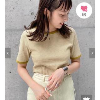 Kastane - テレコボーダーパイピングTシャツ