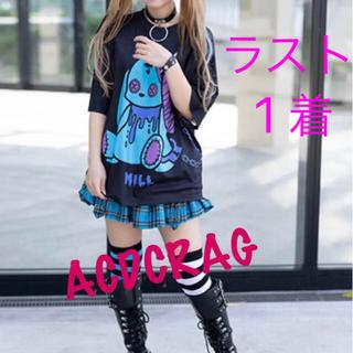 エーシーディーシーラグ(ACDC RAG)のACDC RAG ミル Tシャツ 原宿系 原宿 韓国 黒 青 病みかわ(Tシャツ(半袖/袖なし))