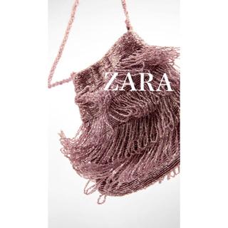 ザラ(ZARA)の新品・未使用 ZARA スパークリング ビーズフリンジ バッグ(ショルダーバッグ)