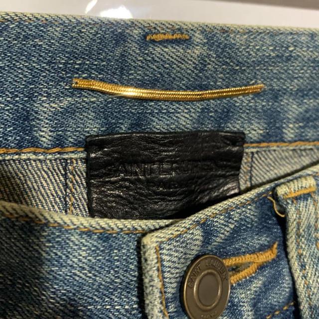 Saint Laurent(サンローラン)のSAINT LAURENT 15AW デストロクラッシュ スキニーデニム メンズのパンツ(デニム/ジーンズ)の商品写真
