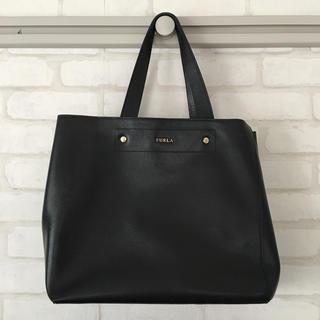 Furla - 美品 FURLA フルラ ハンドバッグ トートバッグ ビジネスバッグ黒 ブラック