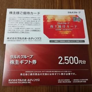 ツルハ 株主優待ギフト券2500円+優待カード ゆうパケット発送