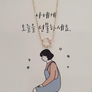4℃ - 韓国 アクセサリー LLOYD 14k ピンクゴールド ネックレス