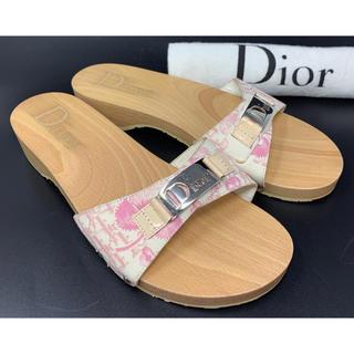クリスチャンディオール(Christian Dior)のChristian Dior☆サンダル スライド トロッター アイボリー(サンダル)