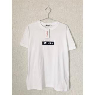 MILKFED. - MILKFED. ミルクフェド S/S TEE BAR Tシャツ 半袖 白