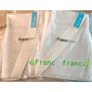 フランフラン(Francfranc)の🍀フランフランレースカーテン🍀2枚セット✨(レースカーテン)