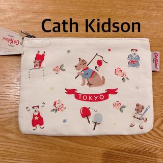 Cath Kidston - キャスキッドソン スポーティドッグス コットンポーチ