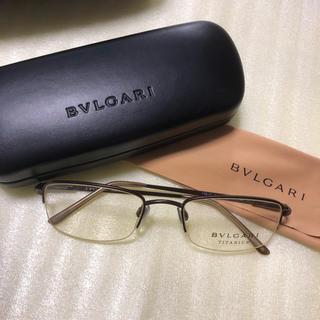ブルガリ(BVLGARI)のBVLGARI メガネフレーム(ブラウン)(サングラス/メガネ)