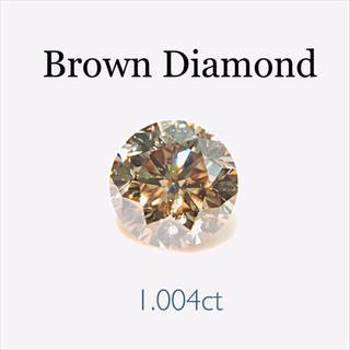 柔らかく煌めく…✨1.004ctダイヤモンド…✨ブラウンカラー(リング(指輪))