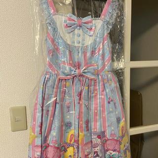 アンジェリックプリティー(Angelic Pretty)のAngelic Pretty Toy Doll Box ジャンスカ サックス(ひざ丈ワンピース)