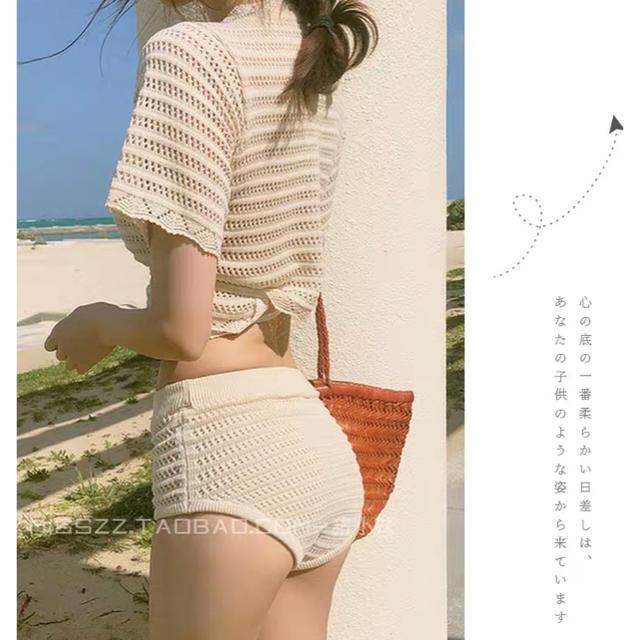 編みニット水着 レディースの水着/浴衣(水着)の商品写真