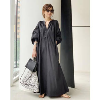 L'Appartement DEUXIEME CLASSE - 【SU】WIDE DRESS with gathered puff sleeve