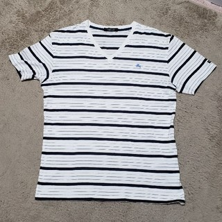 BURBERRY - BURBERRY ワンポイントロゴ ボーダー Tシャツ