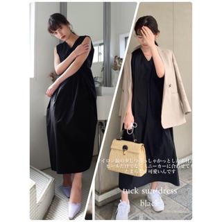 IENA - katrin tokyo  tuck sun-dress(black)