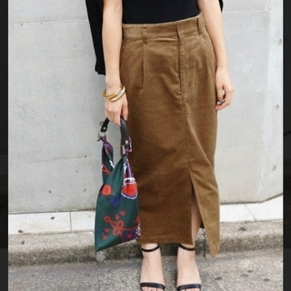 IENA - イエナ 太コールタック スカート 40