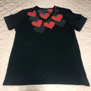 マリメッコ(marimekko)のmarimekko ハート黒Tシャツ 美品(使用2回)(Tシャツ(半袖/袖なし))