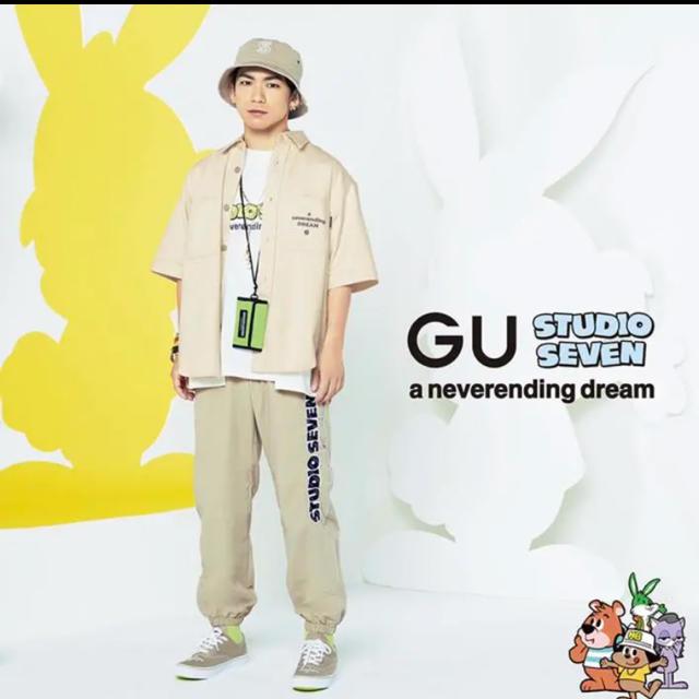STUDIO SEVEN×GU♡ジョガーパンツ メンズのパンツ(ワークパンツ/カーゴパンツ)の商品写真