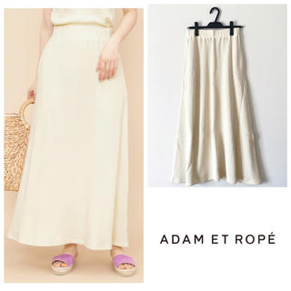 Adam et Rope' - アダムエロペ ロングスカート ワッフル オフホワイト コットン