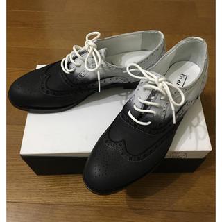 No. 21 - 16000→13000最終値下げ❣️本革 黒×白コンビ ウィングチップシューズ