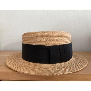 ネストローブ(nest Robe)のwica grocery カンカン帽 麦わら帽子(麦わら帽子/ストローハット)