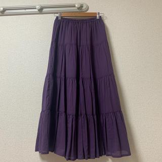 グレイル(GRL)のグレイル コットンティアードボリュームスカート(ロングスカート)