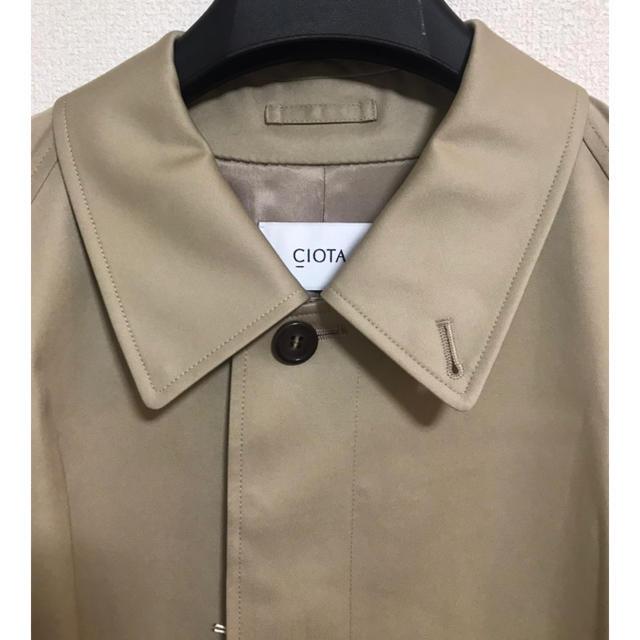 COMOLI(コモリ)の【トトロ様専用】CIOTA スビンコットン ギャバジン バルマカンコート メンズのジャケット/アウター(ステンカラーコート)の商品写真