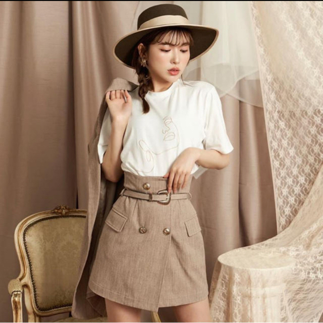 eimy istoire(エイミーイストワール)の♡即完売♡最新作♡Darich ダーリッチ♡ハイウエストベルトスカート レディースのスカート(ミニスカート)の商品写真