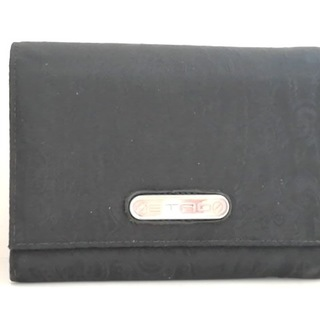 エトロ(ETRO)のETRO(エトロ) 2つ折り財布 黒 ペイズリー柄(財布)