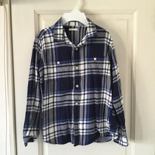 GU - GU 長袖チェックシャツ 150サイズ