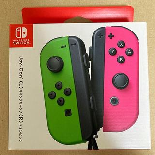 Nintendo Switch - 【未開封】任天堂 Joy-Con (L)ネオングリーン/(R)ネオンピンク