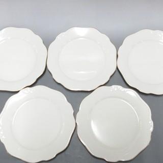ノリタケ(Noritake)のノリタケ プレート新品同様  白×ゴールド(食器)