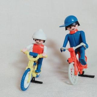 プレイモービル プレミア品 親子自転車セット playmobil 廃盤 レトロ