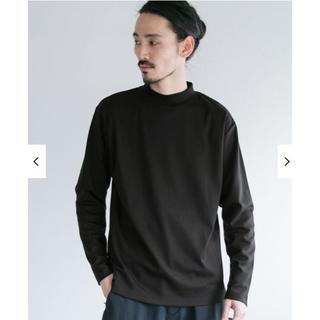 アーバンリサーチ(URBAN RESEARCH)のアーバンリサーチ / スムースモックネックカットソー ブラック L(Tシャツ/カットソー(七分/長袖))