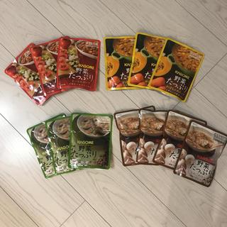 カゴメ(KAGOME)のカゴメ スープ 非常食 ダイエット 四種類 まとめ売り(ダイエット食品)