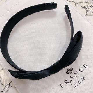 acca - フランスラックス 黒シルクカチューシャ 新品