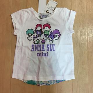 ANNA SUI mini - アナスイミニ☆サンリオリバティTシャツ☆90白