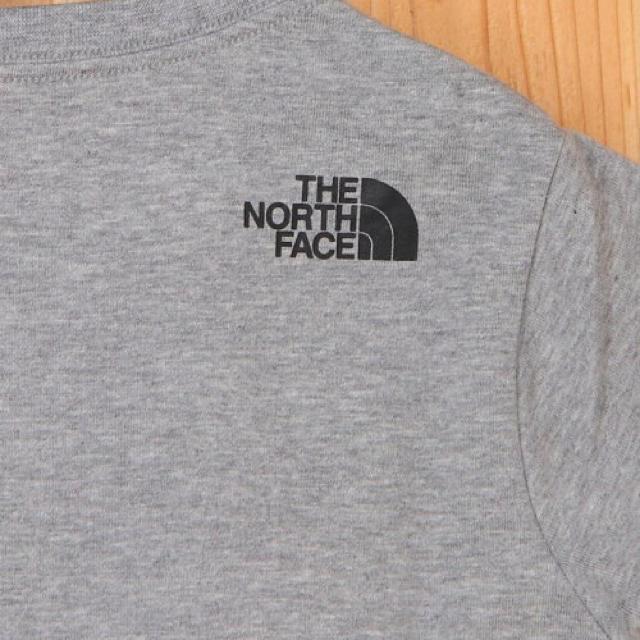 THE NORTH FACE(ザノースフェイス)の【新品未使用】ノースフェイス Tシャツ カモロゴティー グレー 100 キッズ/ベビー/マタニティのキッズ服男の子用(90cm~)(Tシャツ/カットソー)の商品写真