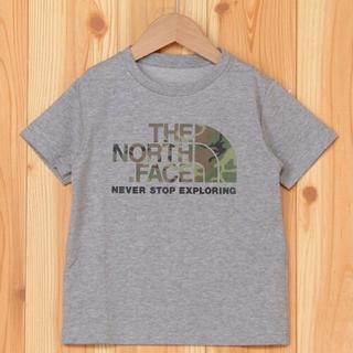 THE NORTH FACE - 【新品未使用】ノースフェイス Tシャツ カモロゴティー グレー 100