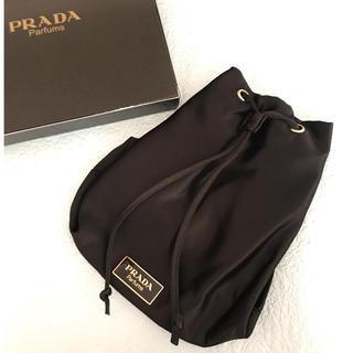 PRADA - PRADA  プラダ パルファム プレート付き 巾着バッグ 未使用 4-23