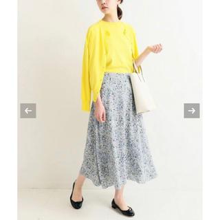 IENA - IENA フラワープリント フレアースカート 34