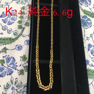 K24 純金 美品 リバーシブル デザインネックレス「蘭」 6.6g