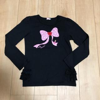 ミキハウス(mikihouse)のミキハウス リーナちゃんりぼんロンT(140cm)(Tシャツ/カットソー)