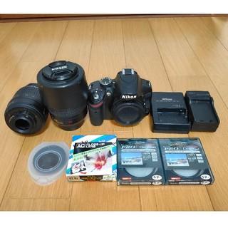 ニコン(Nikon)の【ジャンク品】Nikon D3200 ズームレンズキット&レンズフィルター(デジタル一眼)