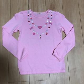 ミキハウス(mikihouse)のミキハウス リーナちゃんネックレスロンT(140cm)(Tシャツ/カットソー)