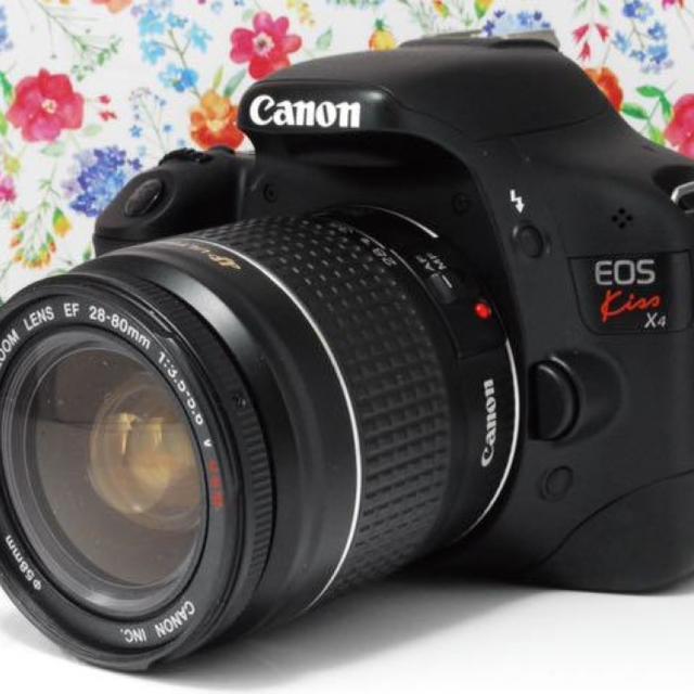 Canon(キヤノン)の★Wi-Fiセット★Canon kiss x4 レンズセット スマホ/家電/カメラのカメラ(デジタル一眼)の商品写真