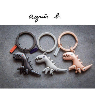 アニエスベー(agnes b.)のアニエスベー スポーツベー キーリング 恐竜 ブラック♡(キーケース)