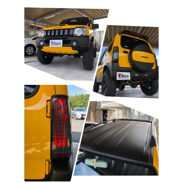 スズキ(スズキ)のジムニー ランドベンチャー リフトアップマッドタイヤ 社外マフラー、テール 自動車/バイクの自動車(車体)の商品写真
