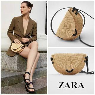 ザラ(ZARA)の新品 ZARA 2020ss  ラフィア ストローバッグ かご かごバッグ(かごバッグ/ストローバッグ)