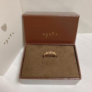 agete - agete アガット  K10  ダイヤモンド  透かしリング