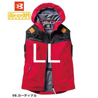 バートル(BURTLE)の【LL】ベスト バートル  空調服 AC1094 カーディナル(ベスト)